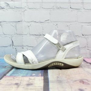 MERRELL Dahlia White Leather Sandals Flats Size 6